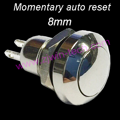 19mm high quality metal power l type brass push button switch flat round illumination momentary self reset 1no 1nc 19hxfx f 1PC 8mm High Quality Metal Button Switch Momentary Auto Reset Button 2Pin Mini Push Button Switch 250V/0.5A
