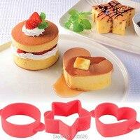 3 pz muffa della torta del fondente del silicone della muffa diy rotonda star a forma di cuore di cioccolato stampo dessert forniture attrezzature e accessori da forno fondente strumenti