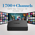 2017 1Year IPTV Set Top Box Sky Italy UK DE European IPTV Box For Spain Portugal Turkish Netherlands Smart TV Box Free Shipping