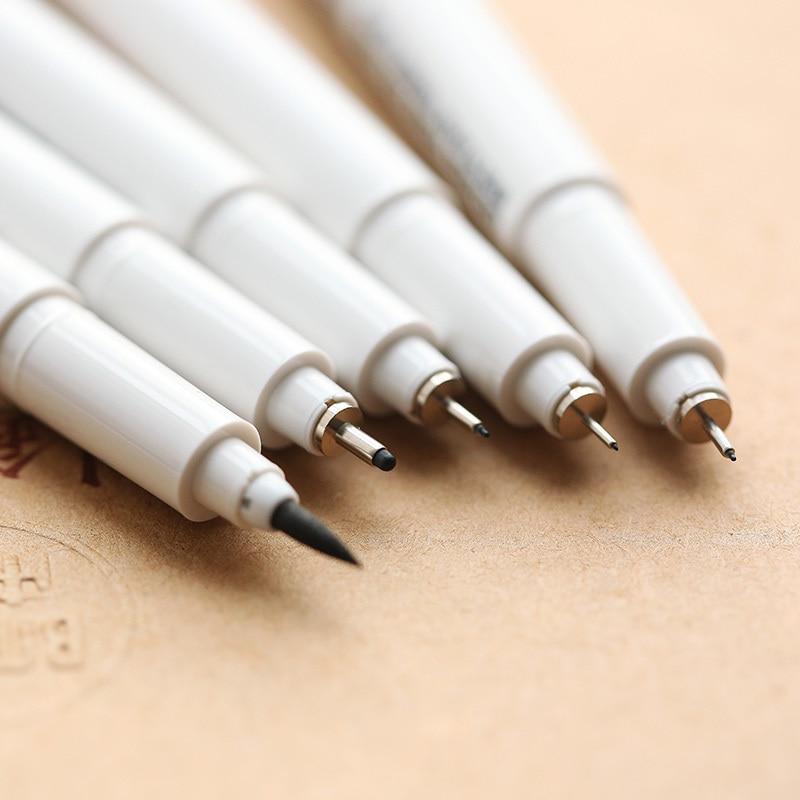 24 pcs/Lot Multi needle drawing pen Marvy cartoon marker brush Liner pigment pens Anime Stationery school supplies 6 pcs lot pigment liner art pen black ink gel pen for drawing sketch cartoon marker signature school supplies stationery a6124