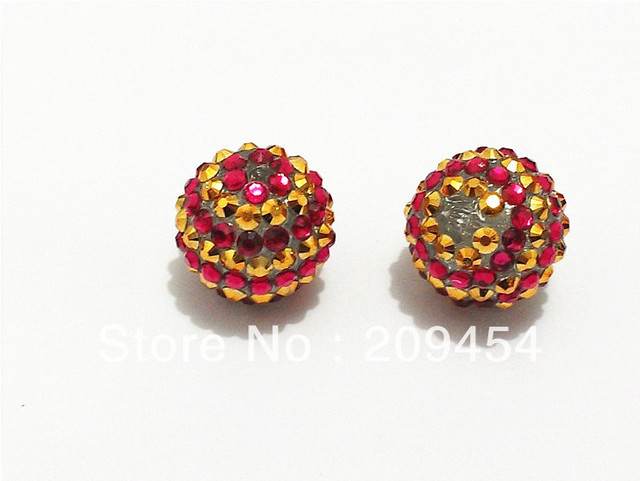 Free Shipping !! 20mm 100pcs lot Gold With Rose Pink Striped Resin ... cd3d4c39aad0