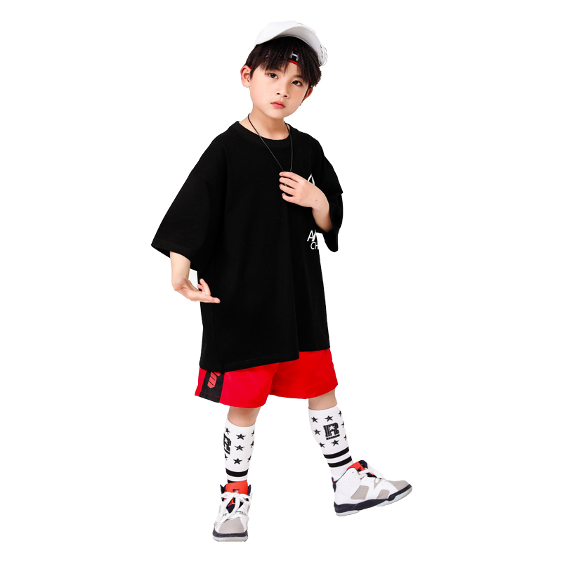 Boy Girl summer 2019 clothes Set 4 6 8 10 12 14 16T hip hop dance costumes kids Jazz set on the boy outfits kids clothes boys (14)