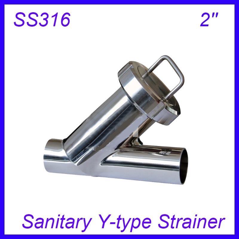 2'' Sanitary Stainless Steel SS316 Y type Filter Strainer f Beer/ dairy/ pharmaceutical/beverag /chemical industry