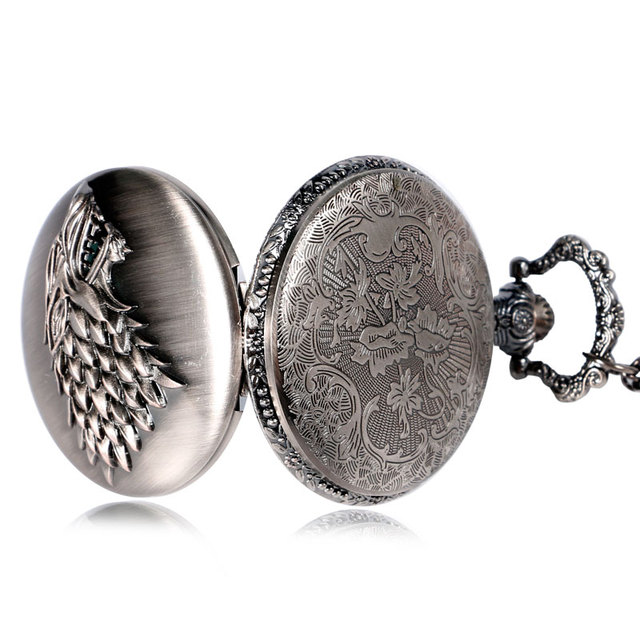 Fashion Stark Honorable Crest Winter is Coming Pocket Watch Steampunk Men Women Fob Clock Relogio De Bolso 2016 Online Sale