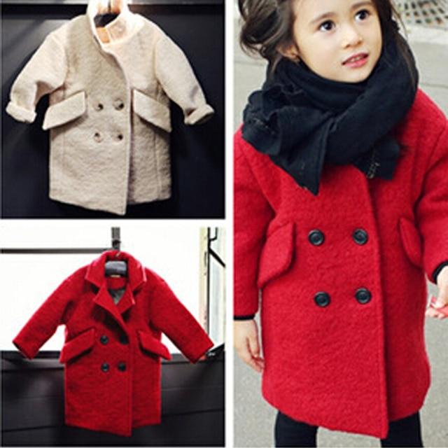 2017 Super Fashion Baby Girls Woolen Coat High Quality Warm Winter ...