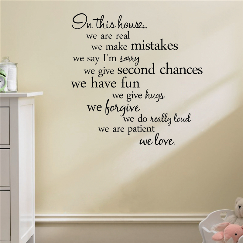 HTB1GmFpQpXXXXaBapXXq6xXFXXXe - In this house we are real Quote Wall Sticker-Free Shipping