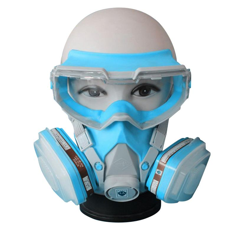 ФОТО Cartridge Industrial Respirator Hot Gas Paint Chemical Masks Pesticide Gas Mask Dust Proof Fire Escape Breathing Apparatus