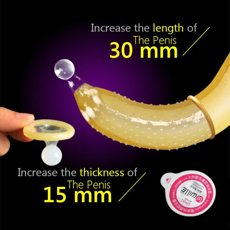 Penis Extender Sex Condoms For Men Special Condom With Sex Ball Delay Ejaculation Sex Big Particle G Spot Condom Sex Toy