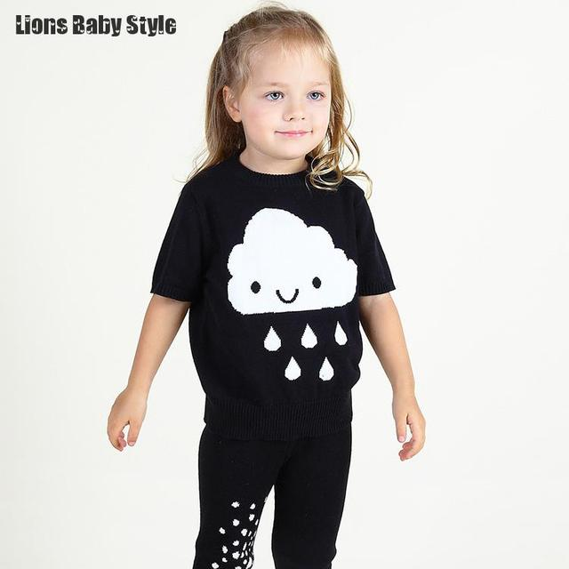 Casual Fashion Designer Bobo Choses Cute Cloud Panda Baby Girls T Shirt Boy Clothes Kikikids Cotton Toddler Clothing Top Tees