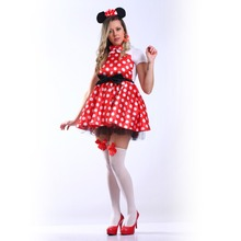 Little Red Riding Hood Minnie Snow White Beer Maid Fantasy Cosplay Costume Comic Movie Carnival Party Purim Halloween
