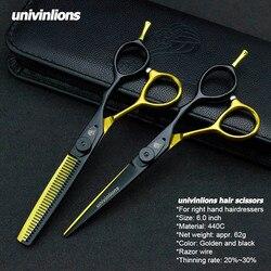 5,5/6,0 Venta de tijeras de pelo de Japón tijeras de teflón tijeras de peluquería baratas tijeras de peluquería