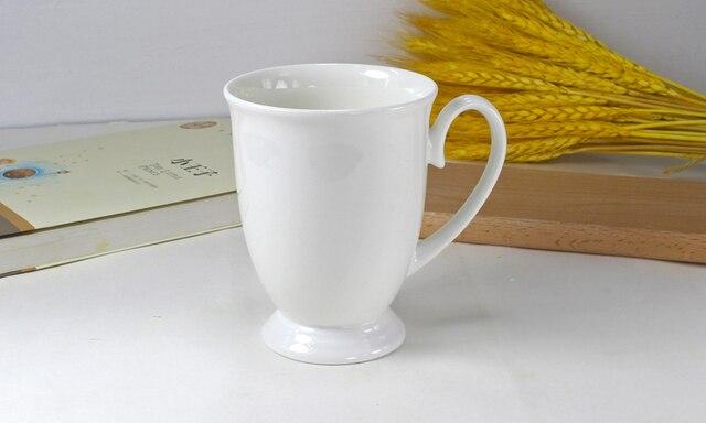 Taza de café de porcelana blanca de 300ML, taza de porcelana para té, taza de cerámica para café, taza de té de taza de café taza térmica, taza de pareja