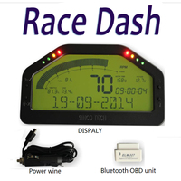 Dash Race Display DO903 7000rpm OBDII Bluetooh Connection LED Gauge Sensor Kit LCD Display Screen Universal For Cars Racing Car