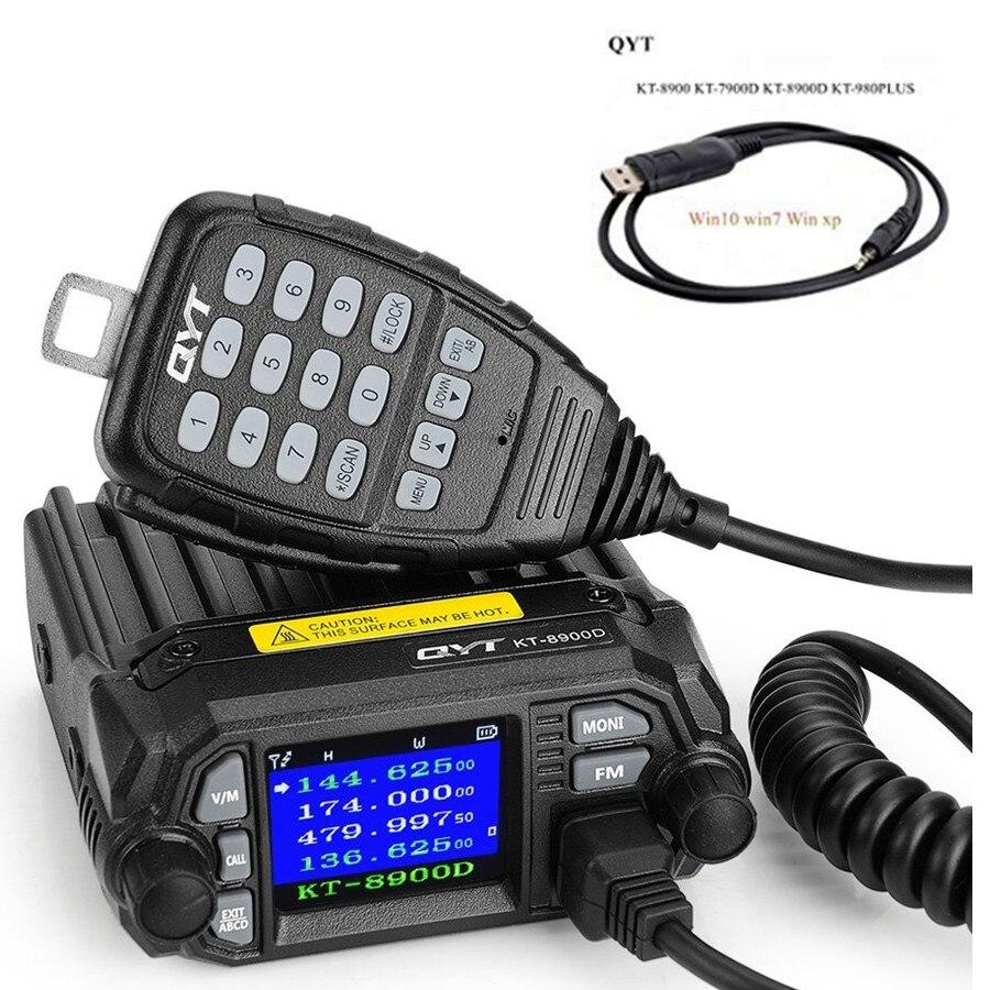QYT KT 8900D KT8900D 2nd Gen 25W 136 174MHz 400 480Mhz mini dual band mobile radio