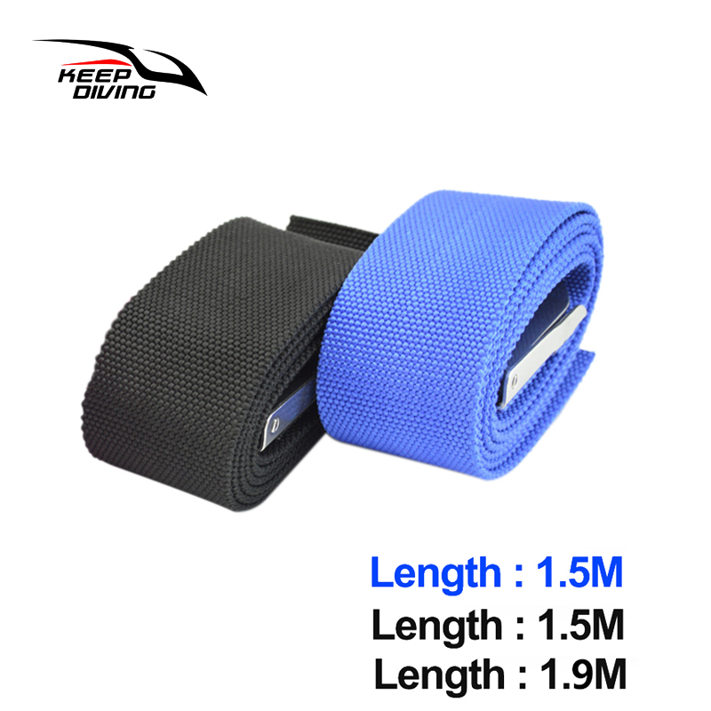 1.5M/1.9M Diving Weight Belt With Stainless Steel Buckle Quick Release Fold Swimming Accessories-2 Colors