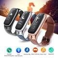 Frete Grátis! portátil De Áudio E Vídeo M6 2em1 Fone De Ouvido Bluetooth Esportes Pulseira de Relógio Inteligente Para IOS & Telefones Android