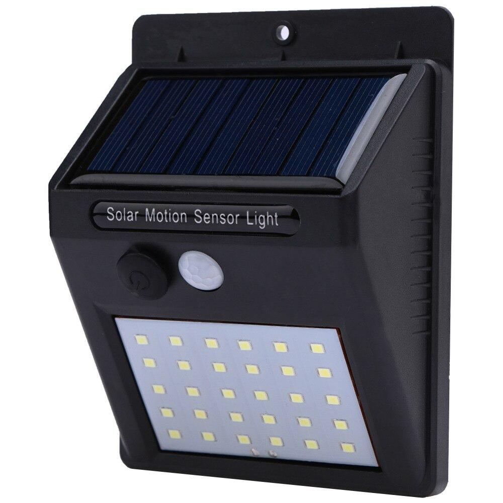 20/25/30 LED Solar Power PIR Infrared Motion Sensor Wall Lamp Energy Saving Waterproof Outdoor Garden Street Security Lights