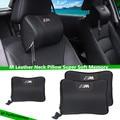 For Car BMW M Leather Neck Super Soft Memory Foam Auto Seat Cover Head Neck Rest Cushion Headrest M Performance