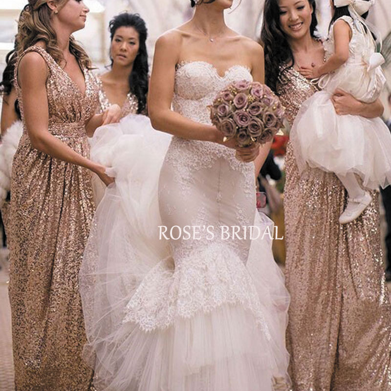 Compare Prices on Rose Gold Sequin Wedding Dress- Online Shopping ...