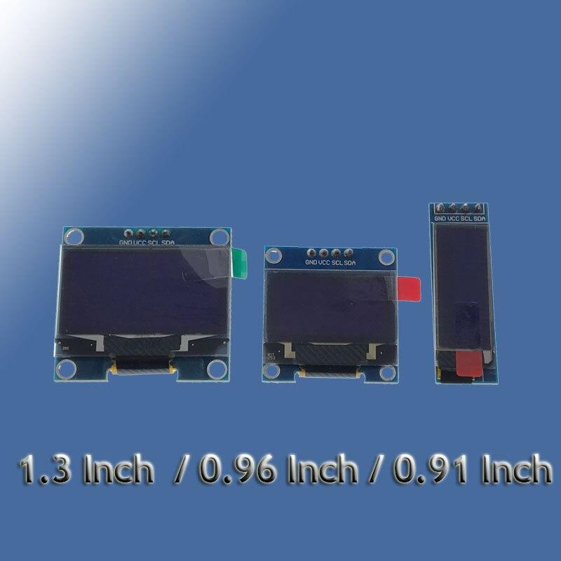 """4pin branco amarelo azul cor 0.91 """"128x32 oled módulo de exibição 0.96/1.3 polegada 128x64 para arduino 0.96"""" iic i2c spi comunicar"""