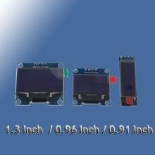 Tela 4 pinos de branco amarelo azul 0.91 polegadas, módulo tela oled 128x32 0.96 / 1.3 polegadas 128x64 para arduino 0.96