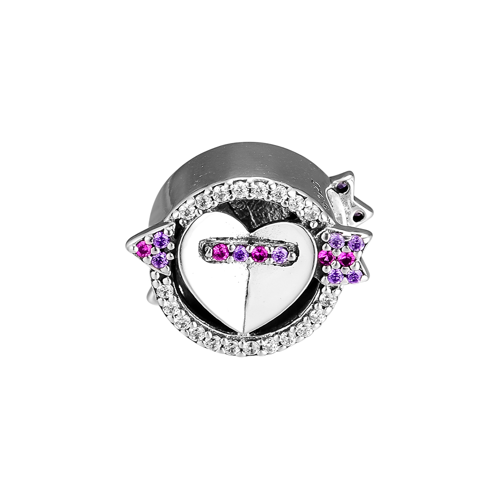 Fits Pandora Charms Bracelets 925 Sterling Silver Sparkling Arrow and Heart Crystals Charm DIY Beads Jewelry Making for Women Fits Pandora Charms Bracelets 925 Sterling Silver Sparkling Arrow and Heart Crystals Charm DIY Beads Jewelry Making for Women