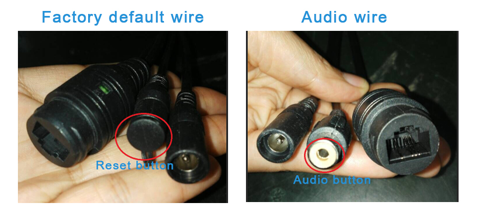 reset and audio wire