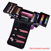 Makeup Bag Storage Multilayer Large Capacity Vanity Cosmetics Case Portable Jewellery Professional Nail Art Organizer Box #4