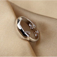 Silver Plated Cat Ring Design  Cute Fashion Jewelry Cat Ring For Women Young Girl Child  Adjustable