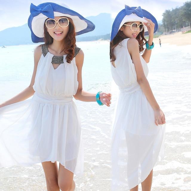 Vestido blanco para playa