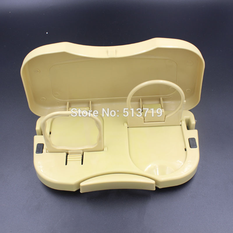 Multi Food Tray Table Car Stand Seat Beverage Water Car Drink Holder Travel mount accessory beige gray black color