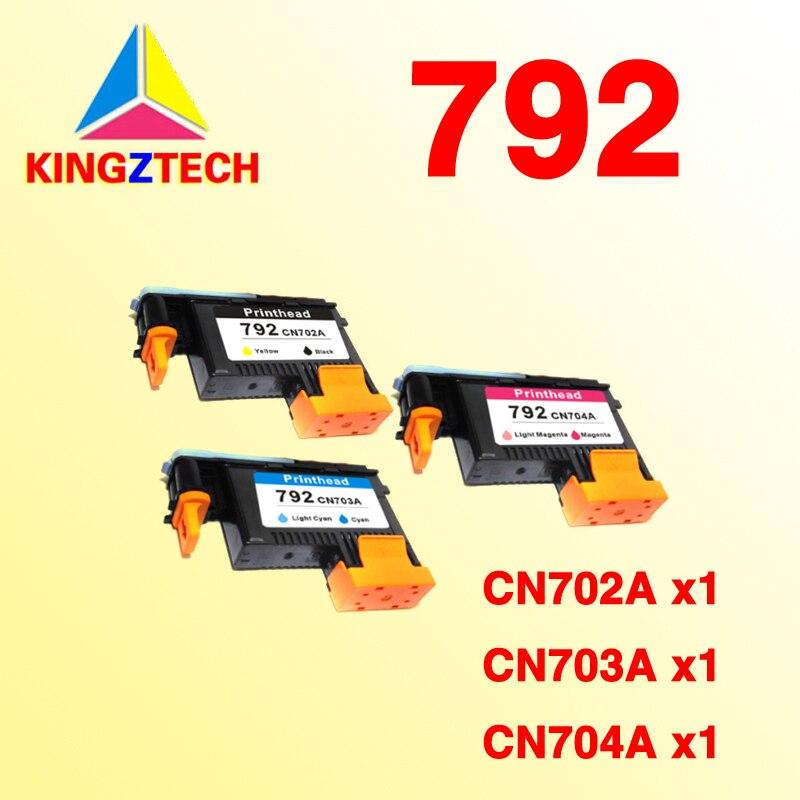 KINGZ FOR HP 792 Druckkopf Printhead CN702A CN703A CN704A Designjet L26500 L28500 cn642a for hp 178 364 564 564xl 4 colors printhead for hp 5510 5511 5512 5514 5515 b209a b210a c309a c310a 3070a b8550 d7560