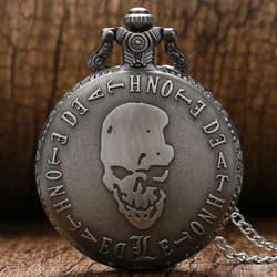 Новое поступление Лидер продаж анимации Death Note Косплэй под старину Стиль Полный Охотник карманные часы с длинный свитер Цепочки и ожерелья