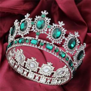 Image 5 - ขนาดใหญ่ Queen King ประกวดมงกุฎสำหรับงานแต่งงาน Tiaras และ Crowns คริสตัล Rhinestone มงกุฎเจ้าสาว Headdress เครื่องประดับผม