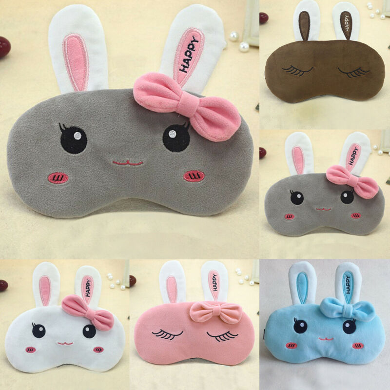 Women Soft Sleeping Eye Mask New Plush Cute Animal Sleep Traveling Relax Blindfold Masks Fashionable Light Blinder Eye Cover Hot