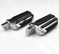 Chrome Motorcycle Pilot Rear Front Foot Pegs For Harley Dyna Fatboy Sportster CVO Bad Boy FXSTSB