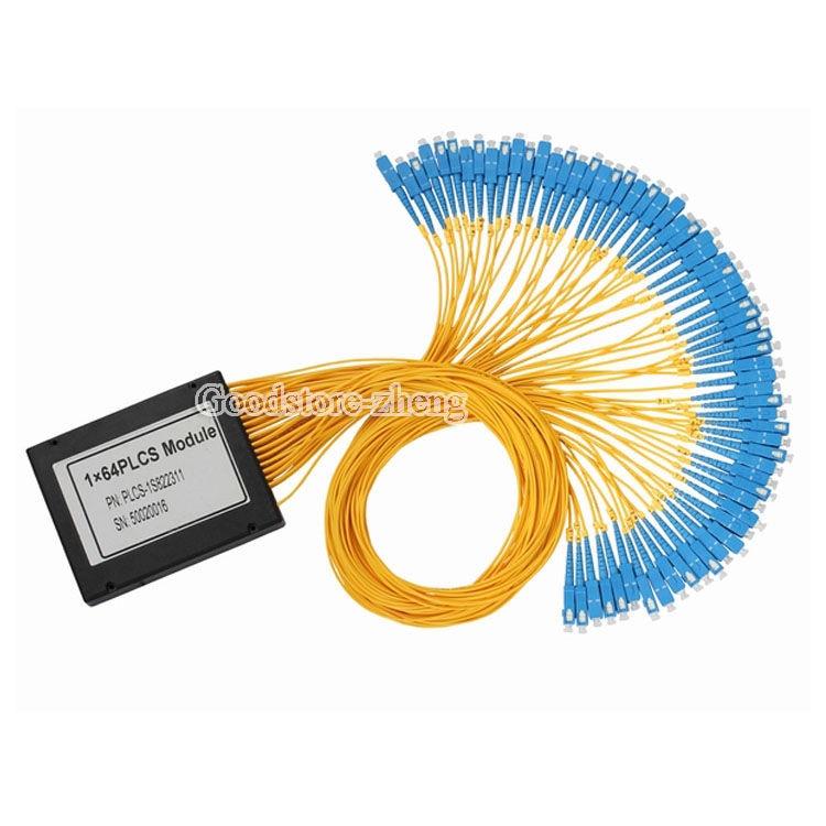 SC/UPC 1*64 PLC Fiber Optical Splitter SC/FC/ST/LC Connector PLC Splitter vinshine fc sc 70 10dbm pwa001