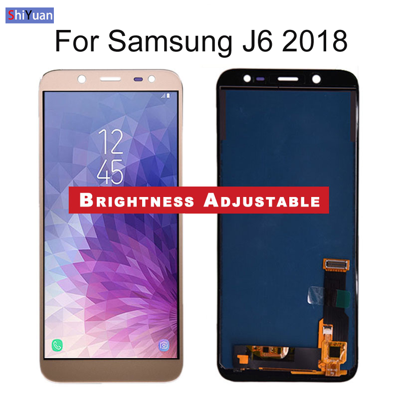 5 6 quot J600 LCD Replacement For Samsung Galaxy J6 2018 J600 J600F DS J600G DS LCD Display Touch Screen Digitizer Adjust Brightness in Mobile Phone LCD Screens from Cellphones amp Telecommunications