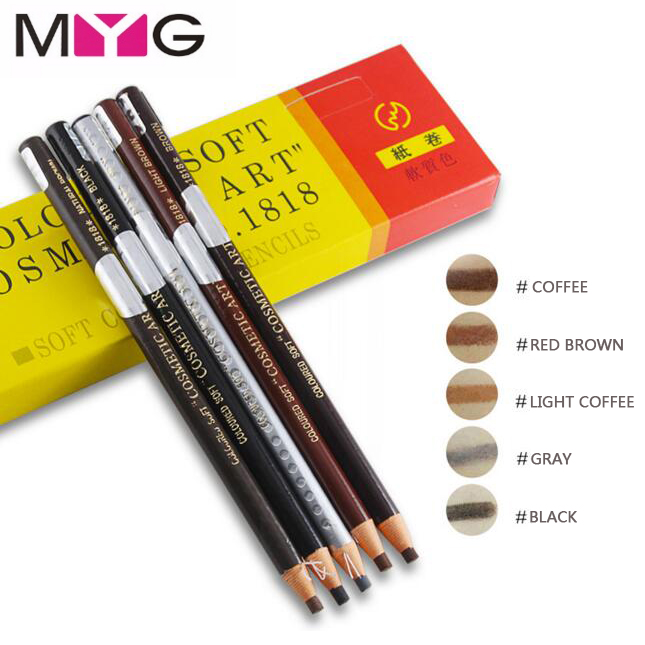 MYG High Quality Eyebrow pencil Waterproof Longlasting Eye Brow Liner Shapper Eyebrow Enhancer Pencil Makeup Pen Free Shipping