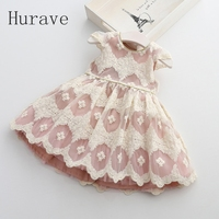 2017 New Spring Fashion Baby Girls Dresses Lace Embroidery Dress Princess Children ClothesGirl Party Dress