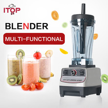 ITOP Commercial Blender Juicer 1500W Smoothies Blender Vegetable Fruit Mixers Food Processors Kitchen Accessories 220V цена и фото
