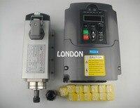 Cnc spindle kit ER11 air cooling 1.5KW spindle + 13 pieces ER11 collet+1 piece 1.5kw inverter
