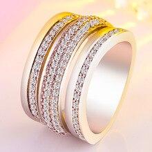 Real 14k White Gold Diamond Ring for Women Trendy Anillos De Gemstone of Jewelry Luxury Anel Bizuteria Rings
