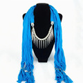 Women Party Office 8 Colors Scarf Female Tassels Scarves2016 New Fashion Autumn Women Polyester Scarf Shawl Brand Ambysun Solid