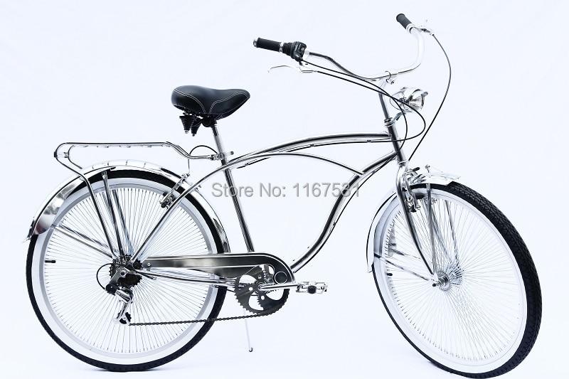 BEACH CRUISER BIKE HAND BRAKE ALLOY CHROME FOR FRONT WHEEL CYCLING BIKES