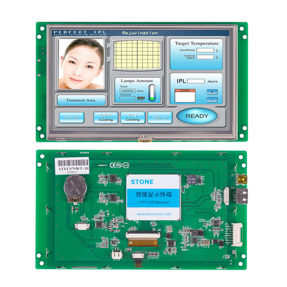 7 800*480 TFT LCD  Monitor With Touch Screen And Wide Temperature7 800*480 TFT LCD  Monitor With Touch Screen And Wide Temperature