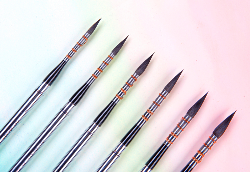 872 pelo de ardilla de alta calidad mango de madera pintura arte pinceles artístico acuarela pincel para dibujar