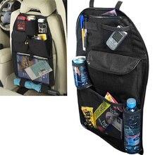 Assento de carro de Volta Organizador Crianças Arrumado Pendurado Multi Bolso de Armazenamento de Viagem Universal Auto Estiva Tidying Interior Preto