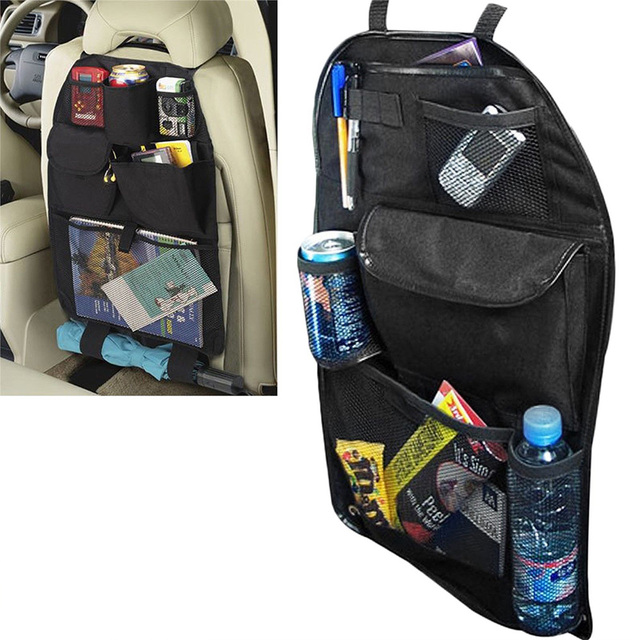 Car Back Seat Organiser Kids Universal Tidy Hanging Multi Pocket Travel Storage Auto Interior Stowing Tidying Black