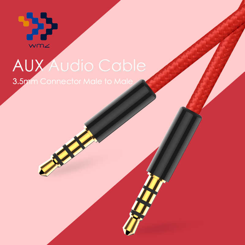 3 5mm jack audio cable 4 pole jack 3 5 mm male to male cloth audio aux